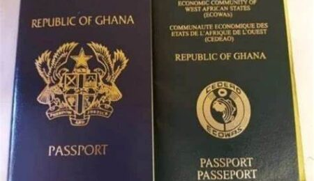 how much does a passport cost in ghana today