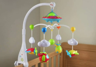 Baby Cot Mobile With Music And Light