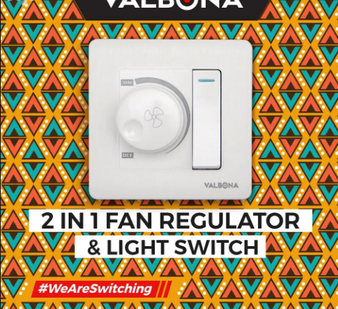 2in1 Fan Regulator And Light Switches