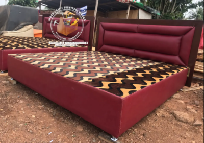 Leather Queen Size Bed