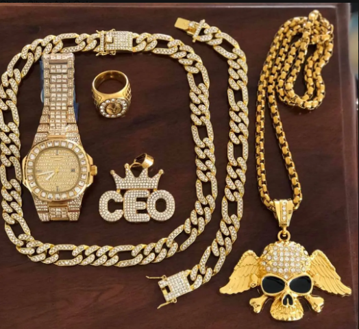 Cuban Chain Silver And Gold